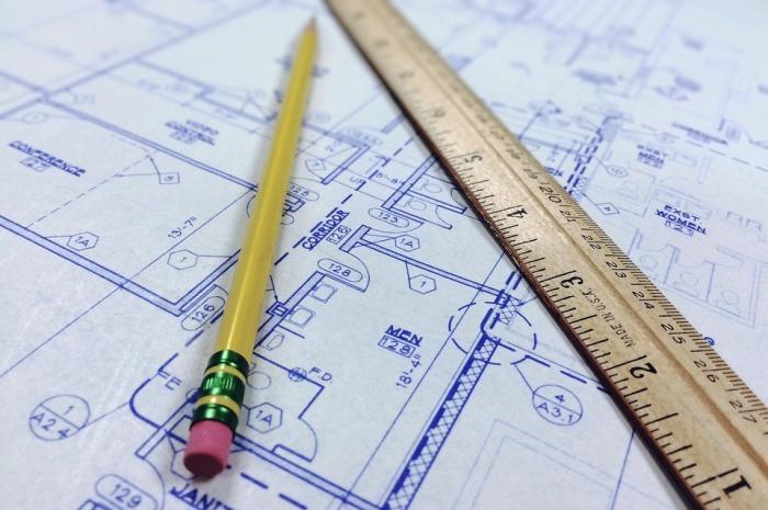 Blueprint Ruler Architecture Architectural